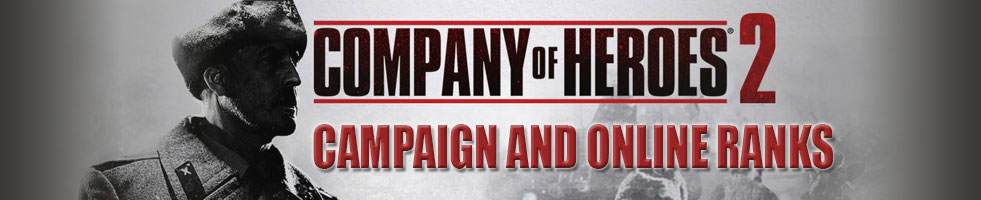 Online Ranks For Company Of Heroes